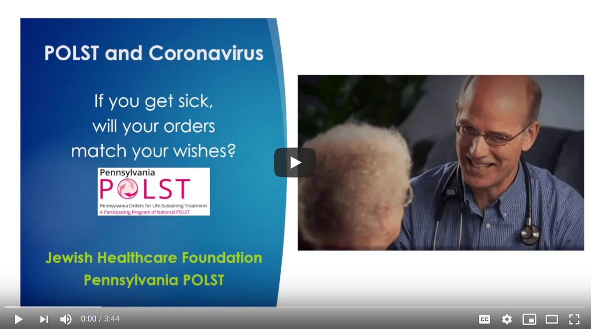 POLST and Coronavirus